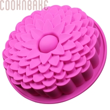 COOKNBAKE DIY Silicone Cake Mold DIY Bread Mold Sunflower Shape Birthday Cake Mold CDSM-103(China)
