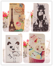LINGWUZHE Cell Phone Accessories Luxury Cartoon Pattern Leather Flip Protection Cover Case For Motorola Razr XT910