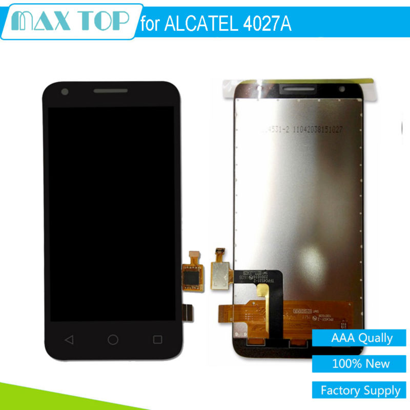 100% tested For Alcatel One Touch Pixi 3 4.5 4027D 4027X 4027A OT4027 LCD Display Touch Screen Digitizer Sensor Full Assembly<br><br>Aliexpress
