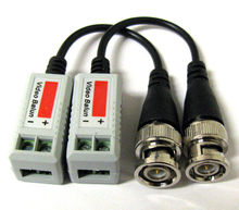 New 12 x Coax CAT5 Camera CCTV BNC Video Balun with Cable Transceiver(China)