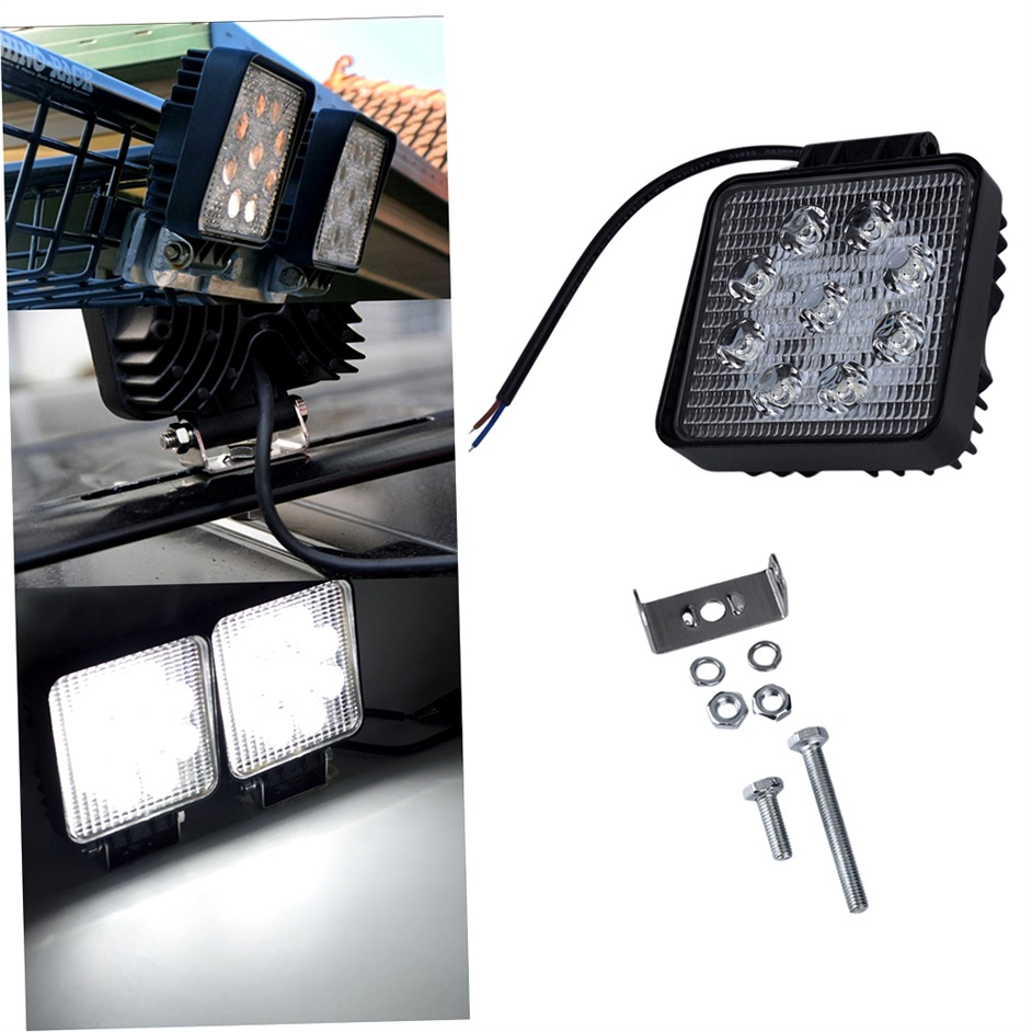 Car roof fog lamp 4x4 24v led light 27w White light led car lamp with CE ROHS IP67<br><br>Aliexpress