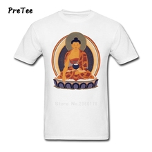 Men T Shirt Cotton Short Sleeve Crew Neck Tshirt Man's Buddhism Tops 2017 Graphic Buddha T-shirt For Teenage