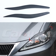 IS250 IS300 FRP Primer Car  Headlight Eyelid Eyebrows Cover Trim Sticker for Lexus IS 2006-2012