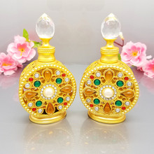 15ml Diamante Retro Antique Hollow Out Glass Perfume Bottle Empty Cosmetic Container Perfume Bottle