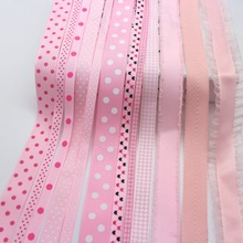 Ленты серии Pinks Grosgrain в горошек ленты клетчатая лента 100% полиэстер декоративная ткань
