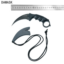 Damask Brand 1pcs CS GO Counter Strike Collectible Knife Stainless Steel Blade Karambit Knife Black Camping Knife New Arrival