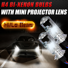 55W H4 Quick Start LHD HID Bi Xenon Conversion Kit Lossless Bulb Lamp Hi/Lo Headlight 1.5inch Mini Projector Lens 4300K 6000K