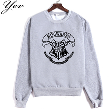 2016 new women hoodies famous movie harry potter hogwarts hoody female cotton sweatshirts brand Hip Hop Skateboard outwear