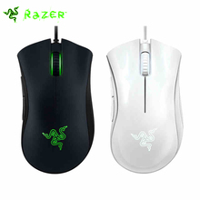 Razer Deathadder 2000DPI Gaming Mouse LOL / CF USB Wired Gaming Mouse Razer Mouse Black/White