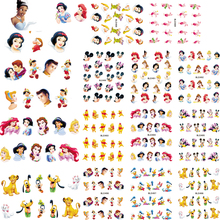 2017 New LARGE BLE489-499 one set (11 DESIGNS ) Water Decal Nail Stickers Cartoon design nail art sticker For nail accessories