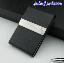 aluminum parts Cigar Cigarette Tobacco Case Holder Pocket Box new arrival Storage Stainless steel PU card case