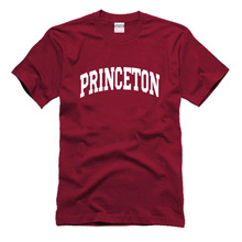 Customized American PRINCETON University school uniforms overseas students must have tees high quality cotton unisex t shirt 2XL