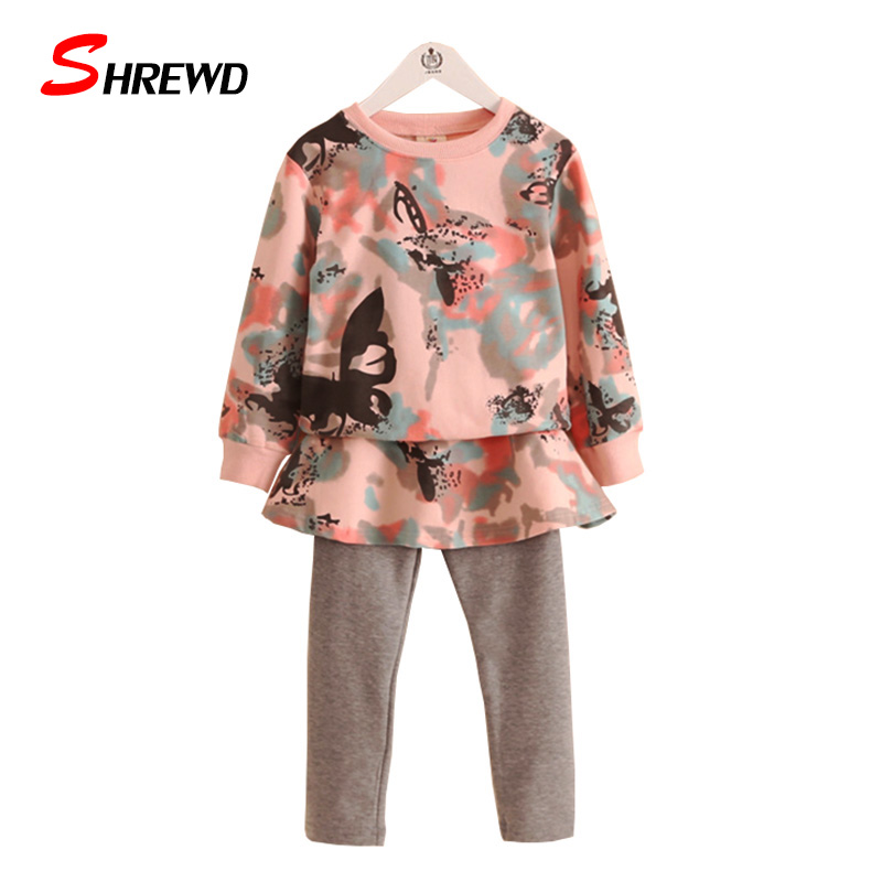 Baby Clothing Girl Set New Autumn 2017 Printing Kids Tracksuit Long Sleeve Sweater+Solid Pants Casual Baby Girl Clothes 4124Z<br><br>Aliexpress