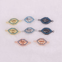 15PCS Micro Pave CZ and Turkish Style Lip Shaped Connector Links Charm Jewelry(China)