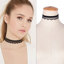 2016 Trendy Hot New Fashion Jewelry Elegant Lace Flower Tattoo Crochet Velvet Double-layer Choker Necklace For Women Girl Collar(China)
