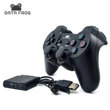 Bluetooth 2.4GHz Wireless Gamepads Controller with Handle Receiver for Sony Playstation PS2 for Sony Playstation PS3 for PC(China)