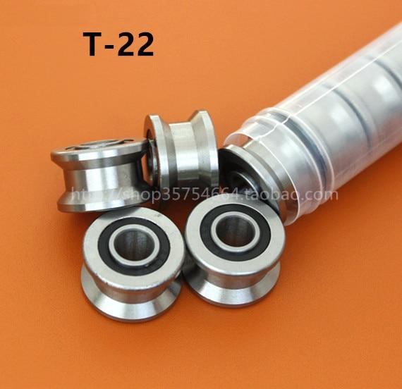 20pcs/lot  T22  8mm T groove pulley bearings TU22  8x22.5x14.5x13.5 mm V / U groove roller wheel ball bearing T-U-22<br><br>Aliexpress