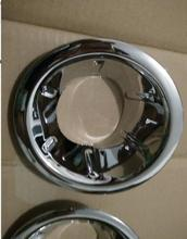 Chrome accessories for navara brute chrome fog light cover for frontier navara d40 2006-2013 car styling