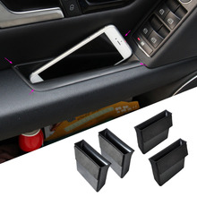CITALL 4pcs Black New Door Armrest Storage Box Mercedes Benz GLK Class Benz X204 2009 2010 2011 2012 2013 2014
