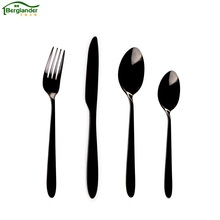 BERGLANDER 4 pcs/set Stainless Steel Cutlery Set Rainbow Gold Plated Dinnerware Set Fork Knife Kitchen tableware Dining Wedding