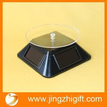 Solar or battery power rotating jewelry display stand for advertising