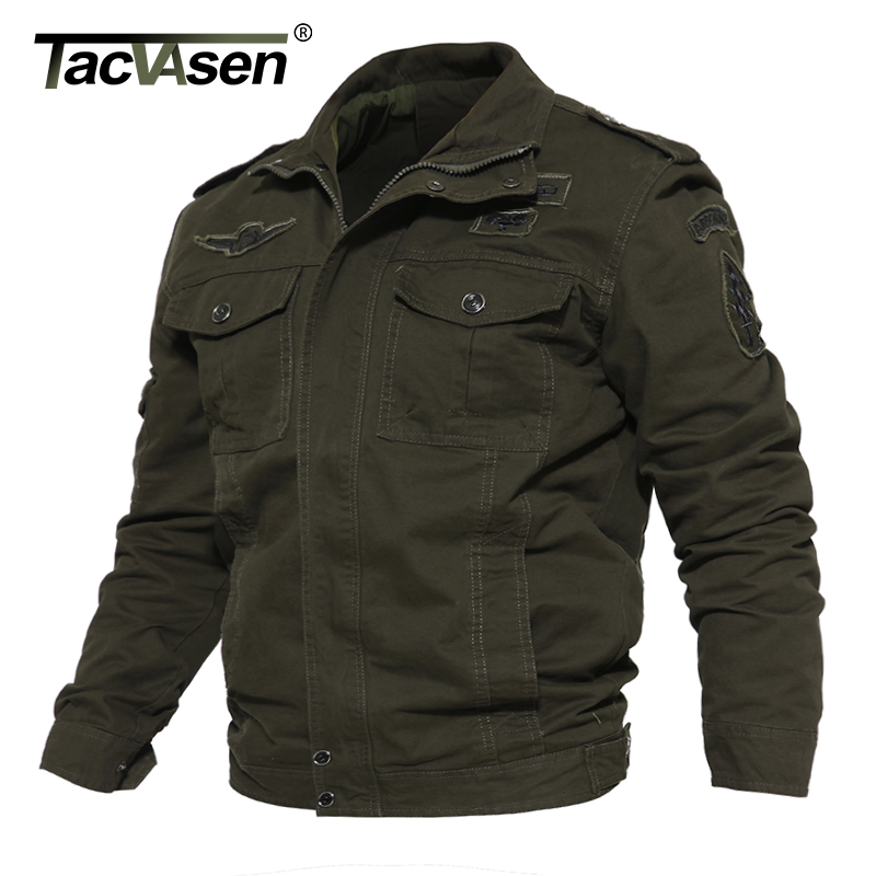 TACVASEN Men Tactical Clothing Army Soldier Jacket Air Force Military jacket Coat Men's Spring Cotton Casual jacket TD-QZQQ-016