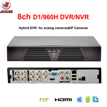 JIVISION 8CH DVR FULL D1 CCTV Recorder HDMI H.264 network Recorder IP DVR NVR 8 channel Stand alone DVR 8 Channels RS485(China)
