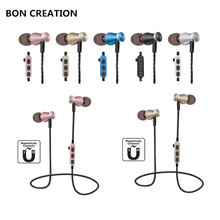 BON CREATION T5 Bluetooth Earphone Sport Running With Mic In-Ear Wireless Earphones Bass Bluetooth Headset For iPhone Xiaomi MP3(China)
