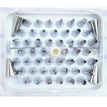 52pcs Nozzles Stainless Steel Bakeware Cake Cookies Cream Puffs Crowded Flower Pastry Bag DIY Cake Decorating Tools Accessories