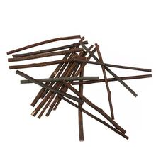 20pcs 10CM Long 0.3-0.5CM In Diameter Wood Log Sticks For DIY Crafts Photo Props Or Pet Mouse Rabbit Snacks Chew Play Toy(China)