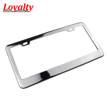 High Quality JDM Front Rear Stainless Steel USA/Canada License Plate Frame Tag Cover Holder for Auto Truck Vehicles Car Styling