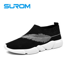 SUROM 2017 Designer Mens Socks Shoes Mesh Breathable Comfortable Men Casual Shoes Slip on Loafers zapatos hombre tenis masculino