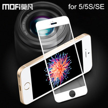 MOFi for iPhone 5s glass tempered full cover screen protector for iPhone5 iPhone 5 glass protective black apple SE tempered film(China)