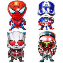 1 Pcs Super Hero Foil Balloons Captain America Cartoon Toy for Kids Boys Birthday Party Decorations(China)