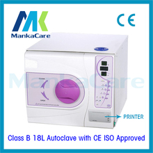 18L Europe B Class Medical Dental Autoclave with Printer Lab Equipment Vacuum Steam Sterilizer with CE and ISO Big Discount(China)