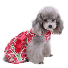 Pet Clothes Floral Bow Princess Party Dress Small Dog Skirt Puppy Doggy Vest Dress Summer Costume(China)
