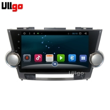 Android 6.0 Car Head Unit for Toyota Highlander Autoradio GPS Car Stereo Central Multimedia in Dash GPS Free 8GB USB Flash(China)