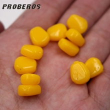 20pcs Yellow Artificial Cereals Corn Bait High Quality Rubber Lure Crap Food Maize Bait Gear For Winter Lake Fishing Accessories