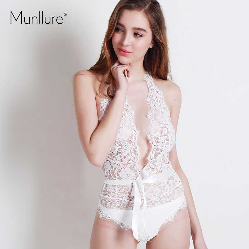 Munllure Ultra Thin Wire Transparent Sexy Lace Bra Wome Mylf 1