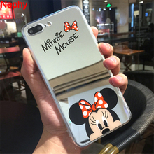 Buy Nephy Mickey Minnie Mirror Case iPhone 6 6s 5 s 5s SE X 7 8 Plus 6Plus 6sPlus 7Plus 8Plus Soft TPU Silicon Full Phone Cover for $1.89 in AliExpress store