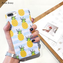 From Jenny Summer Pineapple PC Plastic Hard Case For iphone6 6s/6plus 6splus 7 7Plus back covers Casing Fruits Printed