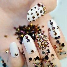Sparkly Mix Size 2-4mm Jelly AB Color Rhinestones Nail Design Tips Round  Flatback Shape Beads Nail Art Decoration RJ151 e74692ca83c1