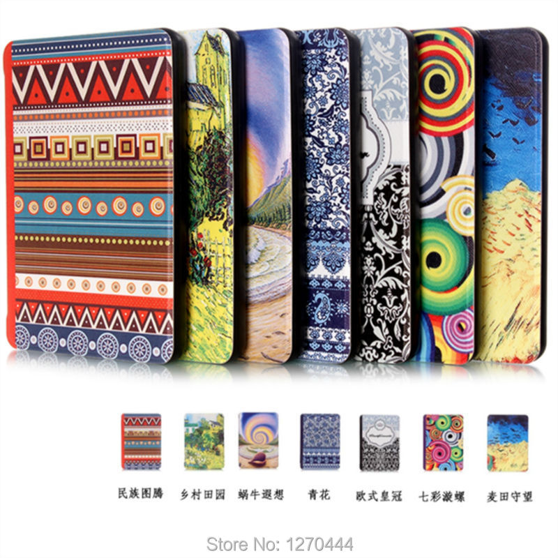New Ultra-slim colored drawing PU Leather Case for amazon Kindle Paperwhite 123 6 inch Protection case Smart cover+pen+OTG<br><br>Aliexpress