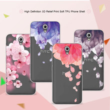 3D Relief Phone Case For HTC Desire 620 620G Desire 820 Mini Floral Cartoon Peach Lace Soft Silicon Back Cover For HTC 620 Coque