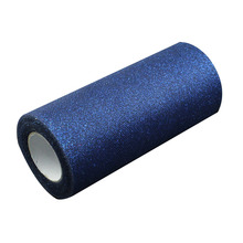 "Navy Blue Glitter Tulle Roll Spool 6"" x 25 Yards Sequin Even Party Supplies"