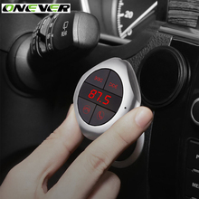 Onever Wireless Hands Free Bluetooth FM Transmitter Support TF Memory Card/USB Flash Drive/Stereo Music Play/Car USB Charging