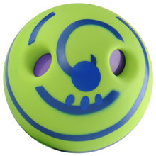 Hot Intresting Ecofriendly No Harm Wobble Wag Giggle Ball Dog Training With Funny Sound Make Dogs Happy
