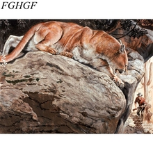 Drop shipping 40*50cm DIY digital Tiger oil painting by numbers for home decoration