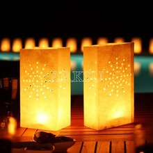 100 Pcs/lot  light Holder Luminaria Paper Lantern Candle Bag For Christmas Party Home Outdoor Wedding Decoration