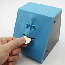 Face Bank Money Saving Object-sensitive Eat Money Piggy Bank Human Face Save Money Box Practical Jokes Children Toys(China)
